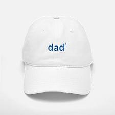 Dad Of Three Baseball Baseball Cap