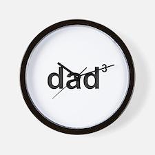 Dad Of Three Wall Clock