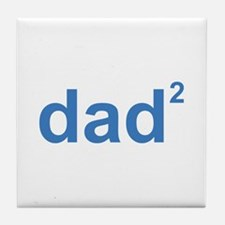 Dad Of Two Tile Coaster