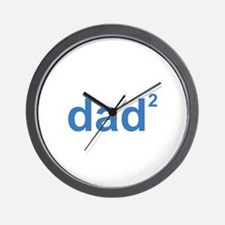 Dad Of Two Wall Clock