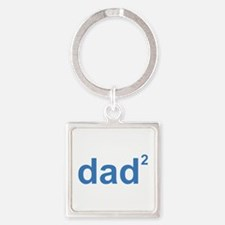 Dad Of Two Square Keychain