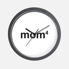 Mom Of Four Wall Clock