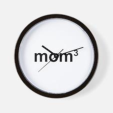 Mom Of Three Wall Clock