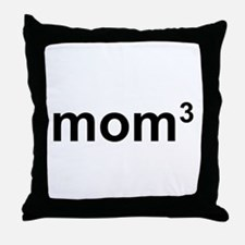 Mom Of Three Throw Pillow