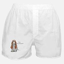 Kiss My Bassett!! Boxer Shorts