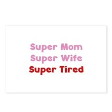 Super Mom Super Wife Super Tired Postcards (Packag