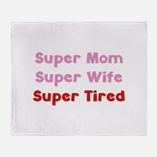 Super Mom Super Wife Super Tired Stadium Blanket