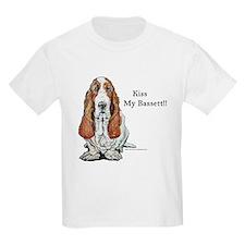 Kiss My Bassett!! Kids T-Shirt