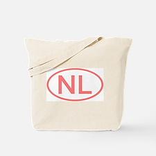 Netherlands - NL Oval Tote Bag