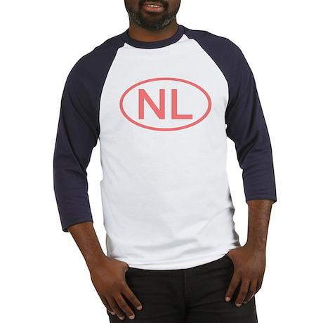 Netherlands - NL Oval Baseball Jersey