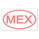 Mexico - MEX Oval Rectangle Sticker