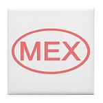 Mexico - MEX Oval Tile Coaster
