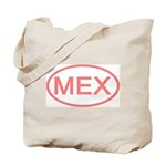 Mexico - MEX Oval Tote Bag