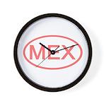 Mexico - MEX Oval Wall Clock
