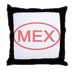 Mexico - MEX Oval Throw Pillow