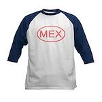 Mexico - MEX Oval Kids Baseball Jersey