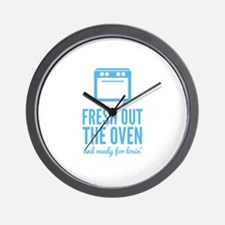 Fresh Out The Oven Wall Clock