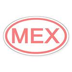 Mexico - MEX Oval Oval Sticker