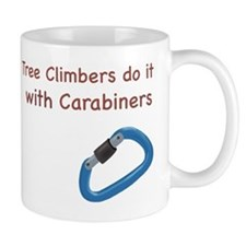 Tree climbers do it with carabiners Mug