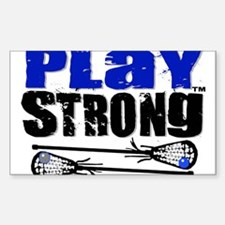 Play Strong LAX Classic Sticker (Rectangle)