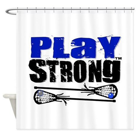 Play Strong LAX Classic Shower Curtain