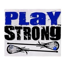 Play Strong LAX Classic Throw Blanket