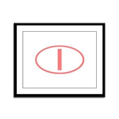 Italy - I Oval Framed Panel Print