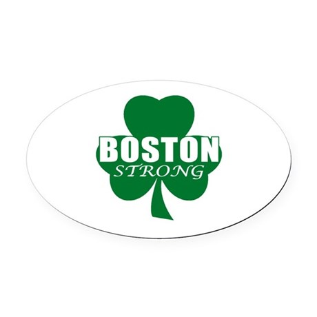 Boston Strong Oval Car Magnet