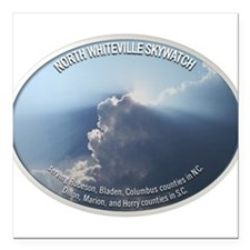 """North Whiteville Skywatch Square Car Magnet 3"""" x 3"""