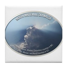 North Whiteville Skywatch Tile Coaster