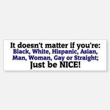 Just be Nice Bumper Car Car Sticker