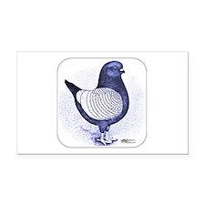 Argent Modena Pigeon Rectangle Car Magnet