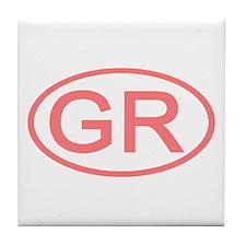Greece - GR Oval Tile Coaster