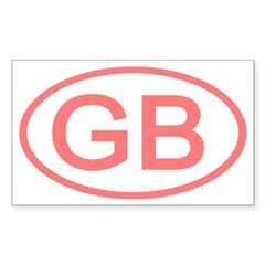 Great Britain - GB Oval Rectangle Decal