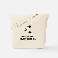 Music Feelings Tote Bag