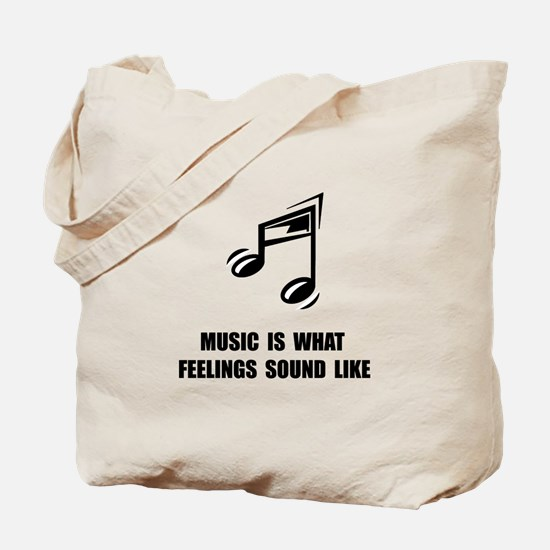 Music Feelings Tote Bag