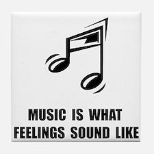 Music Feelings Tile Coaster