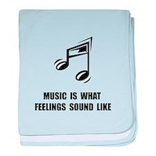 Music Feelings baby blanket