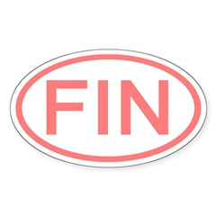 Finland - FIN Oval Oval Decal