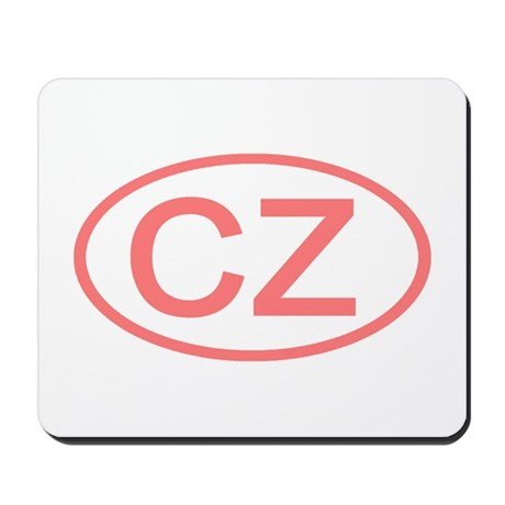 Czech Republic - CZ Oval Mousepad