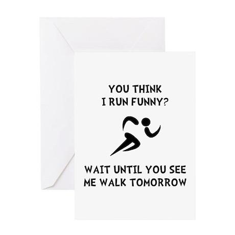 Run Walk Funny Greeting Card