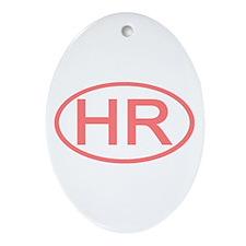Croatia - HR Oval Oval Ornament