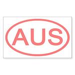 Australia - AUS Oval Rectangle Sticker