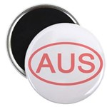 Australia - AUS Oval Magnet