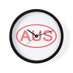 Australia - AUS Oval Wall Clock