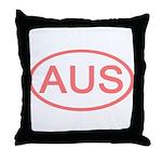 Australia - AUS Oval Throw Pillow