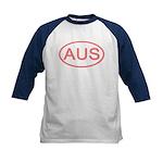 Australia - AUS Oval Kids Baseball Jersey