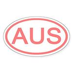 Australia - AUS Oval Oval Sticker