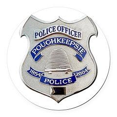 Poughkeepsie Police Round Car Magnet