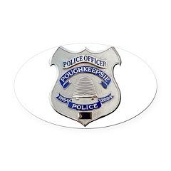 Poughkeepsie Police Oval Car Magnet
